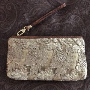 ✨CLEVER CARRIAGE CO.✨Lace, Fabric & Leather Clutch